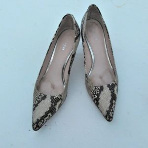 Coach pumps Heels shoes snake skin python 10